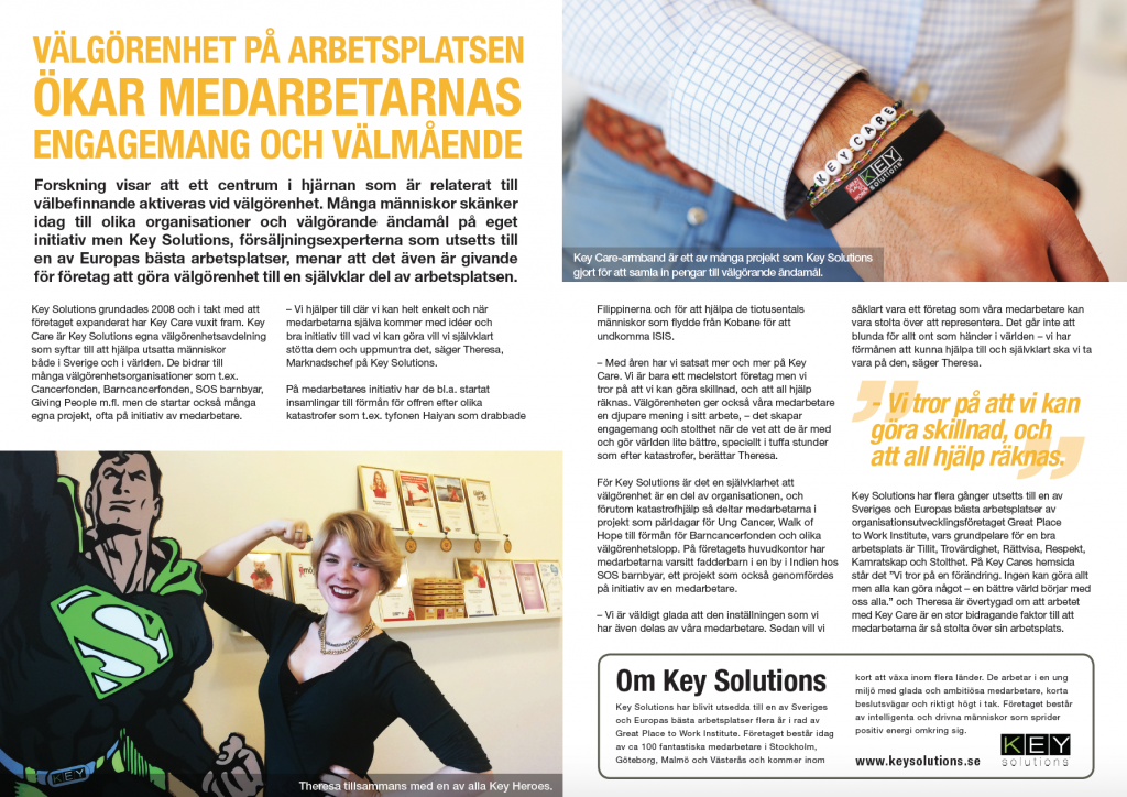 Key Article Key Solutions Välgörenhet
